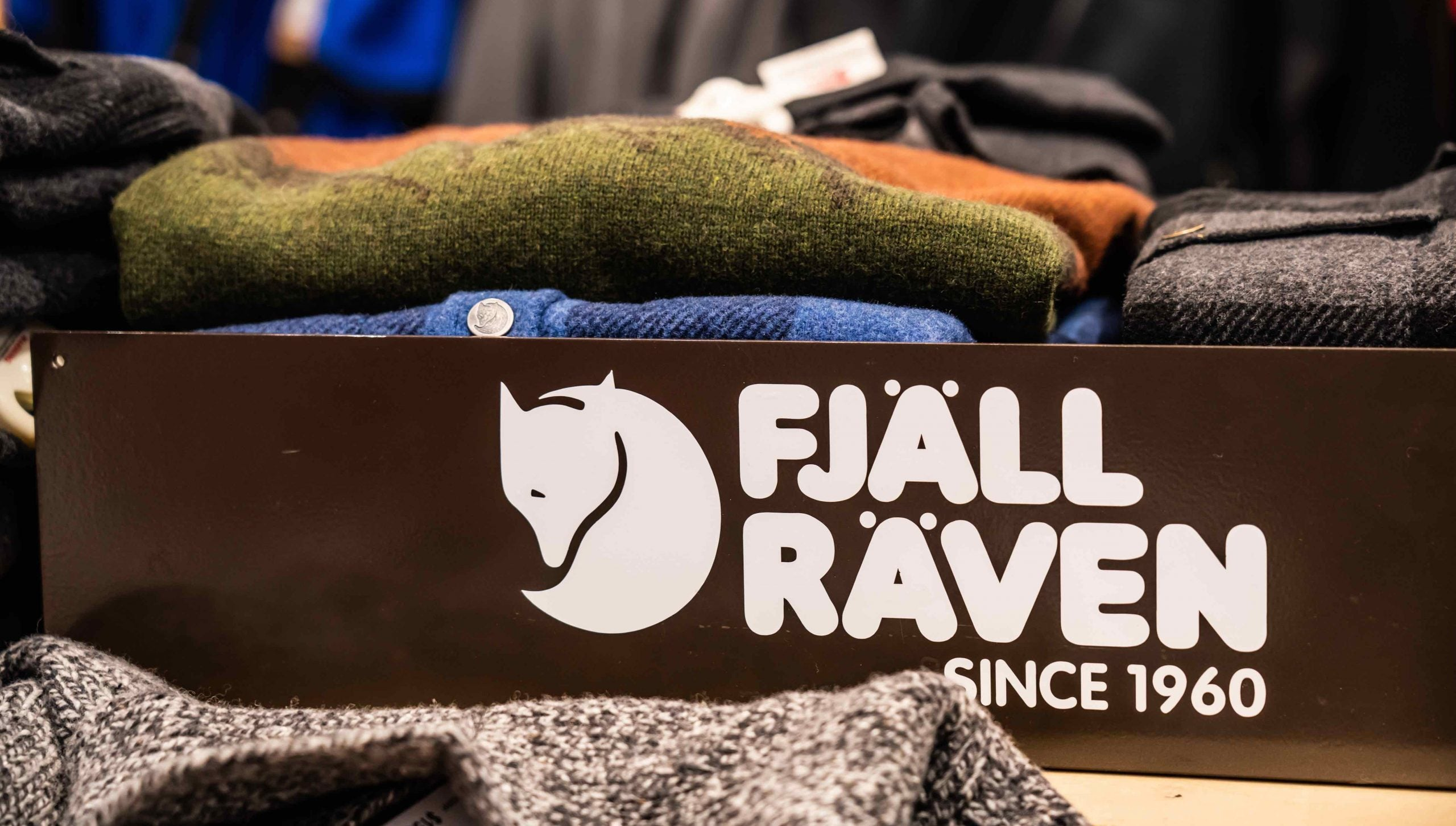 Fjallraven stall seen in a Macy's department store in New
